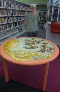 Art Nouveau Birds Table