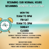 Library Hours Expanded On August 2
