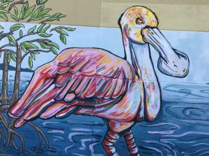 Spoonbill painting