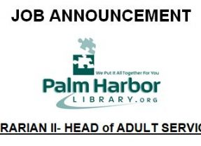 Job Announcement: LIBRARIAN II – HEAD of ADULT SERVICES
