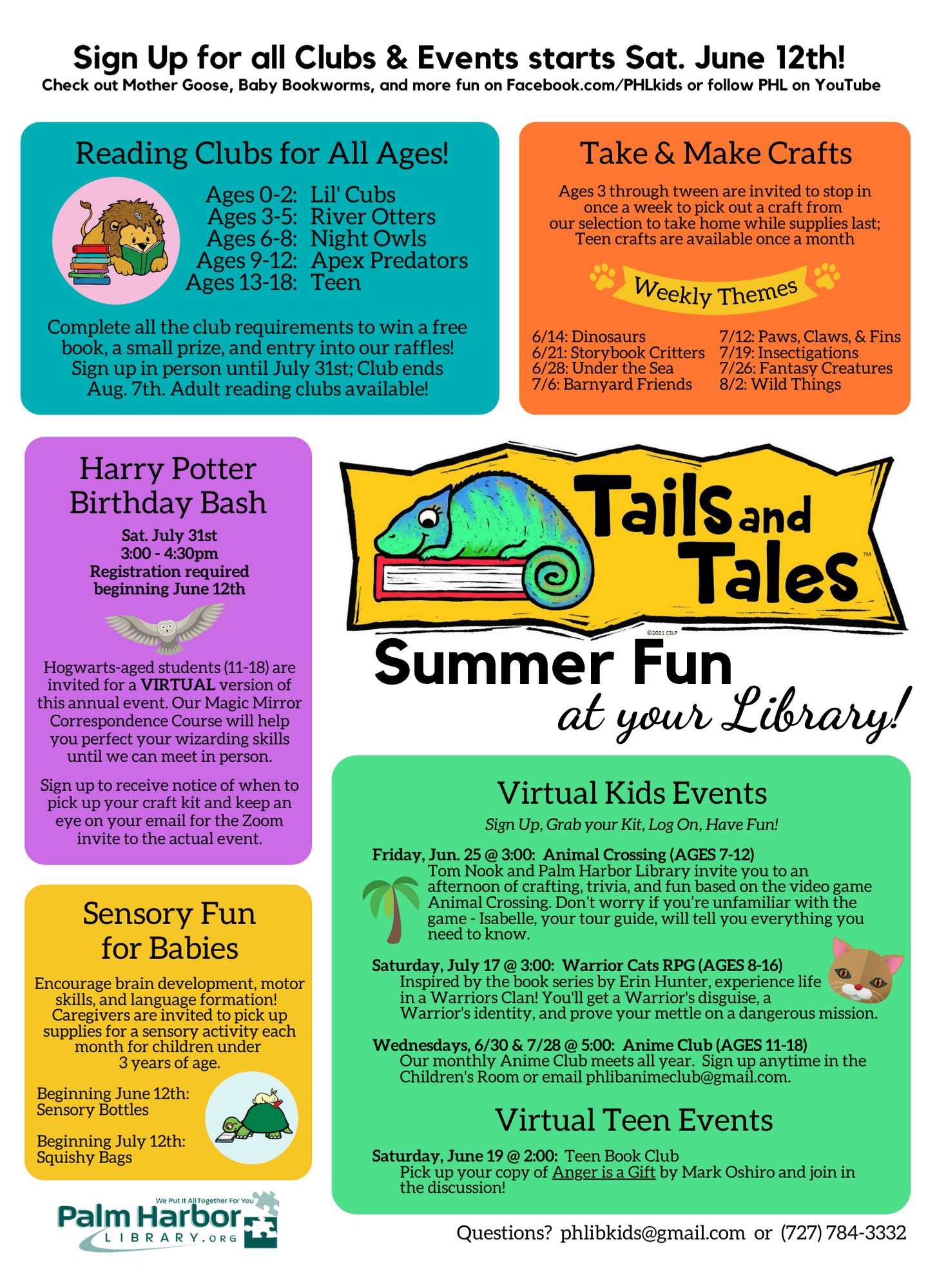 List of all summer reading events